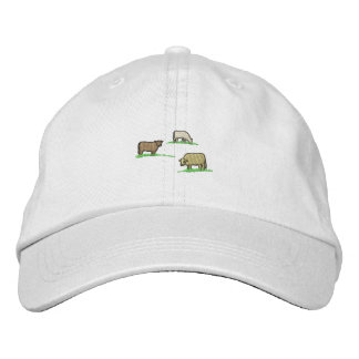 Cows Embroidered Hat