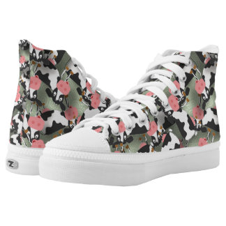 Cows High Top ZIPZ® Shoes