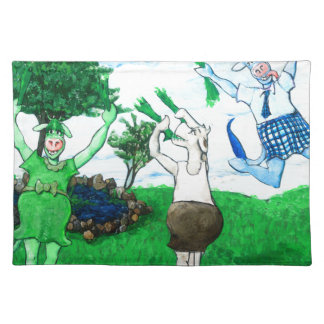 Cows in Skirts and Dresses Placemat