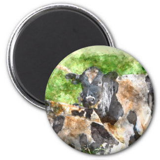 Cows in the Field 2 Inch Round Magnet