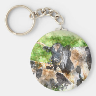 Cows in the Field Basic Round Button Keychain