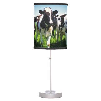 Cows in the field, Betsukai town, Hokkaido Table Lamp