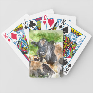 Cows in the Field Bicycle Playing Cards