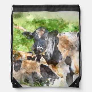 Cows in the Field Cinch Bags
