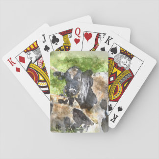 Cows in the Field Playing Cards