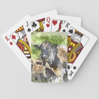 Cows in the Field Poker Deck