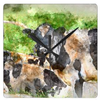 Cows in the Field Wallclock