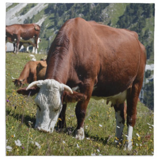 Cows in the French Alps Napkin