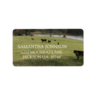 Cows In The Pasture Address Labels