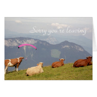 Cows leaving card