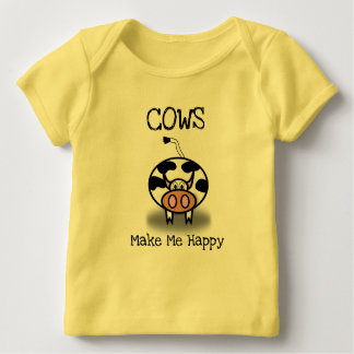 Cows make me happy baby T-Shirt