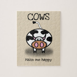 Cows make me happy jigsaw puzzle