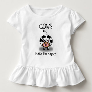 Cows make me happy toddler t-shirt