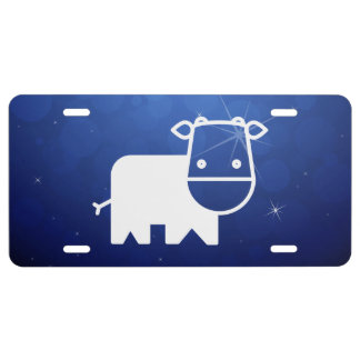 Cows Minimal License Plate