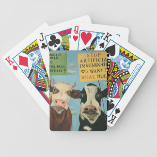 Cows On Strike Bicycle Playing Cards