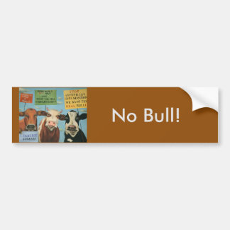 Cows On Strike Bumper Sticker