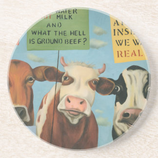 Cows On Strike Coaster