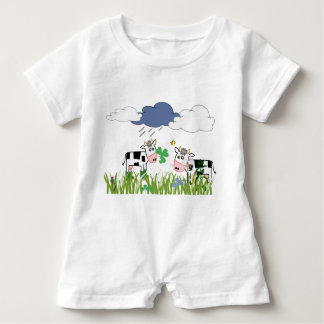 Cows on the pasture baby romper