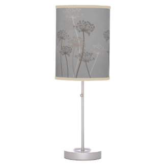 Cows Parsley grey brown beige lamp shade