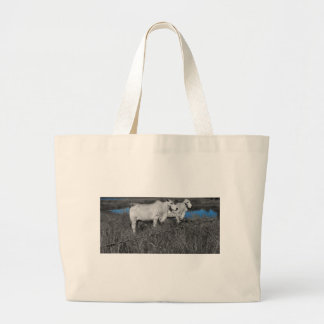 COWS QUEENSLAND AUSTRALIA WITH ART EFFECTS LARGE TOTE BAG