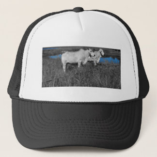 COWS QUEENSLAND AUSTRALIA WITH ART EFFECTS TRUCKER HAT