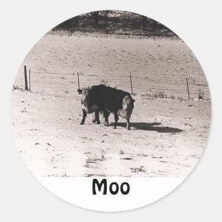 cows round sticker