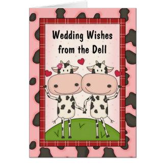 Cows Sing Popular Wedding Music Card