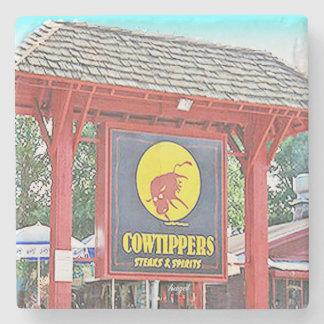 Cowtippers Midtown, Atlanta Marble Stone Coaster. Stone Coaster