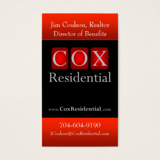 Cox Residential Business Card