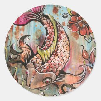 Coy Koi by Shadia Classic Round Sticker