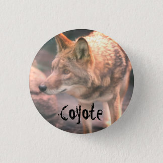 Coyote 1 Inch Round Button