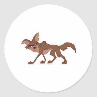 Coyote Classic Round Sticker