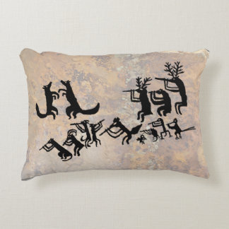 Coyote Crooners Singing to the Moon Decorative Pillow