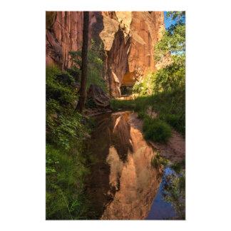 Coyote Gulch Canyon Reflection - Utah Photographic Print