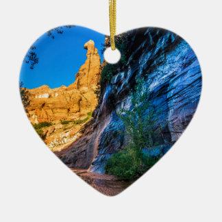 Coyote Gulch Sunrise - Utah Ceramic Heart Ornament