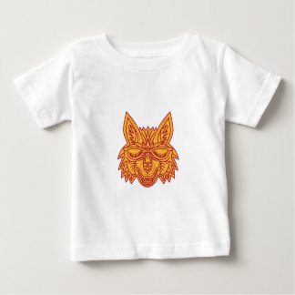Coyote Head Sunglasses Smiling Mono Line Baby T-Shirt