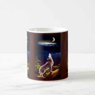 Coyote Howling at the Moon in the Desert Coffee Mug
