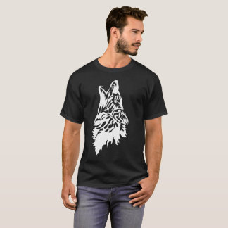 Coyote Howling Stencil T-Shirt