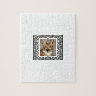 coyote in a frame jigsaw puzzle
