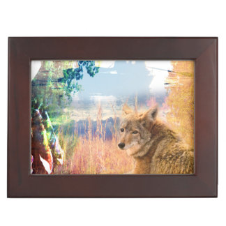 Coyote Landscapes North American Park Outdoor Dog Keepsake Box