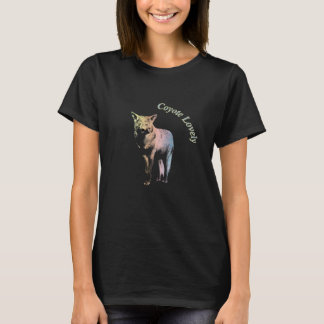 Coyote Lovely   Multicolored Pastel Design T-Shirt