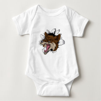 Coyote mascot break out baby bodysuit