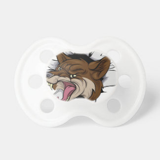 Coyote mascot break out baby pacifiers