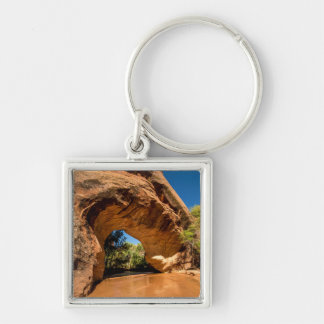 Coyote Natural Bridge - Coyote Gulch - Utah Silver-Colored Square Keychain