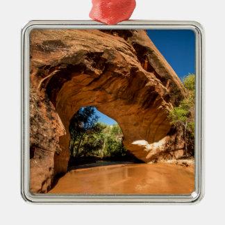 Coyote Natural Bridge - Coyote Gulch - Utah Silver-Colored Square Ornament