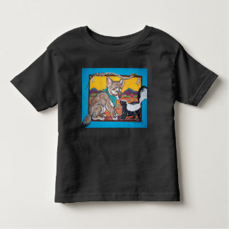 Coyote Pup and Skunk Southwest Wildlife Humorous Toddler T-shirt