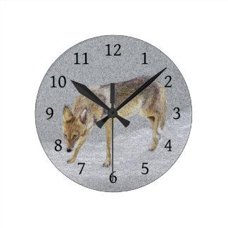 Coyote Round Clock