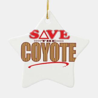 Coyote Save Ceramic Star Ornament