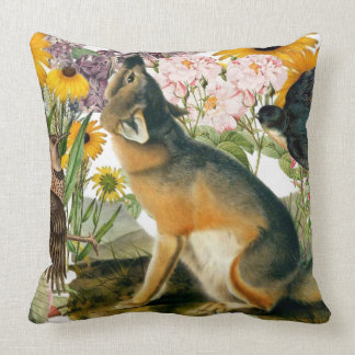 Coyote Spirit Animal Indoor Large Pillow
