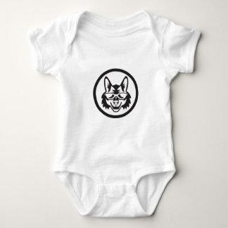 Coyote Sunglasses Circle Retro Baby Bodysuit
